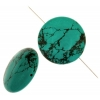 Turquoise Stablized Magnesite 35mm 8In Strand
